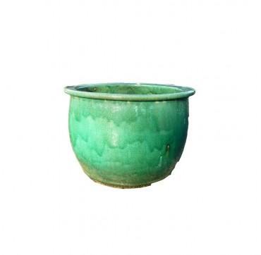 Kordeltopf smaragd-grün