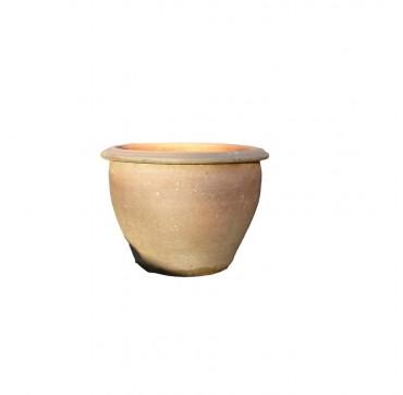 Kordeltopf terracotta